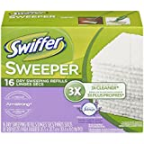 Swiffer Sweeper Dry Sweeping Cloths, Mop and Broom Floor Cleaner Refills, Febreze Lavender Vanilla & Comfort Scent, 16-Count (Pack of 12) (Packaging May Vary)