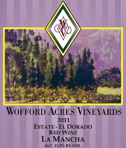 2011 Wofford Acres Vineyards Estate 'La Mancha' Red Wine, El Dorado 750 Ml