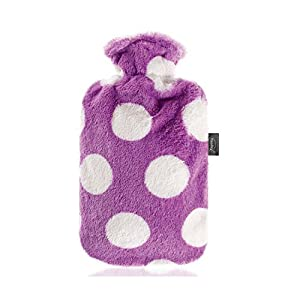 Fashy Hot Water Bottle with Purple Dots 2L