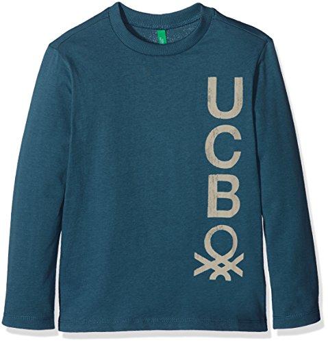 United Colors of Benetton 3YR3C12V5, T-Shirt Bambino, Blu (Navy), 4-5 anni (Taglia Produttore: XS)