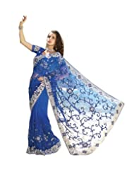 Triveni Mesmerizing Blue Saree With Fancy Border 2222