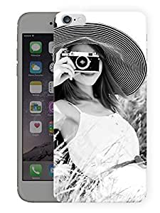 """Girl Vintage Classy Monochrome Printed Designer Mobile Back Cover For """"Apple Iphone 6 - 6S"""" (3D, Matte, Premium Quality Snap On Case)"""