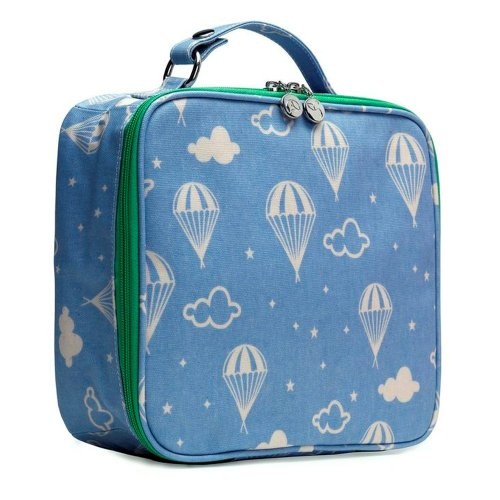 Apple & Bee Kids Lunchbox, Blue Parachute