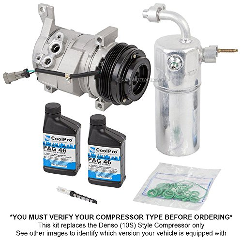 New Ac Compressor & Clutch With Complete A/C Repair Kit For Chevy Suburban - BuyAutoParts 60-80319RK New (2001 Chevy Suburban Ac Compressor compare prices)