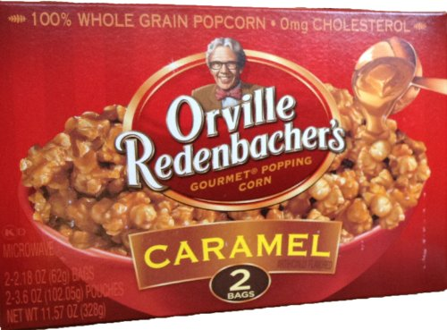 Orville Redenbacher'S Gourmet Microwavable Popcorn - Caramel, 2-Count Boxes (2 Pack)