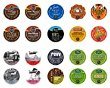 Crazy Cups Extra Bold Premium Sampler, Single-cup coffee pack sampler for Keurig Single serve cup Brewers (Pack of 20)