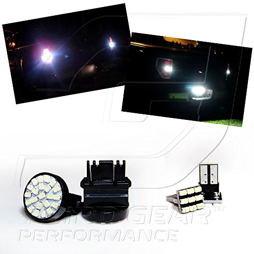 Tgp 3157 White 22 Led Smd Wedge Reverse / Backup Light Bulbs And License Plate Led Pair 1998-2009 Mazda B4000