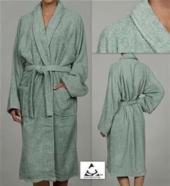 Green Terry Cloth Bathrobe Unisex 100