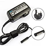 UK Wall Charger Travel Adapter Laptop AC Adapter Power Charger for Microsoft surface 8 Pro Wi-Fi 10.6 Microsoft surface RT 32GB 64GB 12V 3.6A 43W (Delivery Within 2-5 Days)