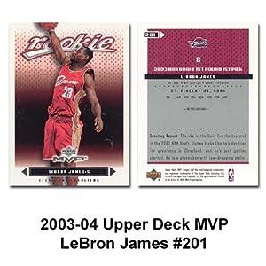 Upper Deck Mvp Cleveland Cavaliers Lebron James 2003-04 Rookie Card