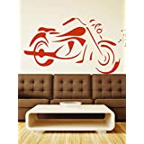 WALLMANTRA The Bike For The Bold Sports Wall Decal Wall Sticker : Medium(24x15 Inch)