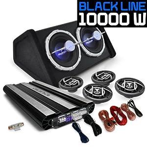 auna set black line 620 impianto audio auto car sistema completo hi fi 10000 watt. Black Bedroom Furniture Sets. Home Design Ideas