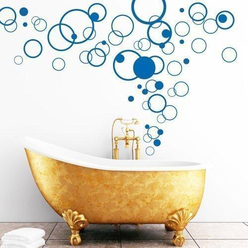 wandtattoo loft deko kreise 60teilig 49 farben zur auswahl tolle dekoidee f r badezimmer. Black Bedroom Furniture Sets. Home Design Ideas