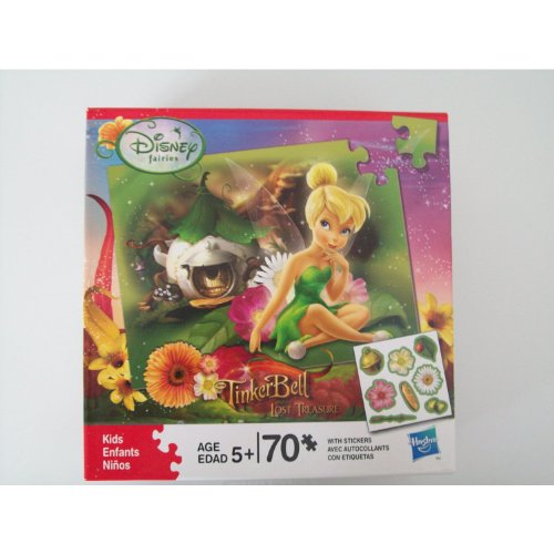 Disney Fairies Sticker Puzzle - TinkerBell and The Lost Treasure - 70 Piece