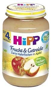 Hipp Zarte Haferflocken in Apfel, 6-er Pack (6 x 190 g) - Bio
