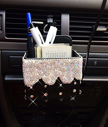 WELLCHIC Bling Handmade Car Air Vent Mobile Cellphone Pocket Bag Pouch Box Storage Organizer Carrying Case (B-Cellphone Pocket Bag Storage) (Air Vent Pouch compare prices)