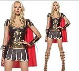 クリスマスハロウィン仮装衣装コスプレコスチューム♪女戦士 戦闘服 スパルタ戦士風  ギリシャ女神スペイングラディエーター