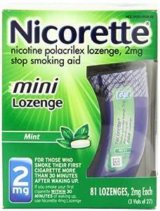 Nicorette Mini Lozenge (2 mg)  81-Count Package