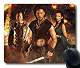 Custom Attractive Mouse Pad with Pompeii Milo Cassia Corvus Keith Harrington Emily Browning Kiefer Sutherland 2014 Non-Slip Neoprene Rubber Standard Size 9 Inch(220mm) X 7 Inch(180mm) X 1/8 Inch(3mm) Desktop Mousepad Laptop Mousepads Comfortable Computer Mouse Mat