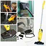 Wolf 2 in 1 1200w Super Heated Floor and Hand Held Steam Cleaner - Complete with 2 x Floor Cloths, 2 x Upholstery Cloths