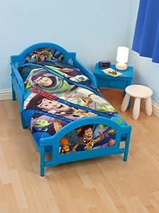 Parure de lit housse de couette 120 cm x 150 cm taie d oreiller b b junior toy story buzz l - Parure de lit buzz l eclair ...