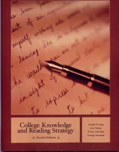 College Knowledge and Reading Strategy (4th Edition) [Paperback]