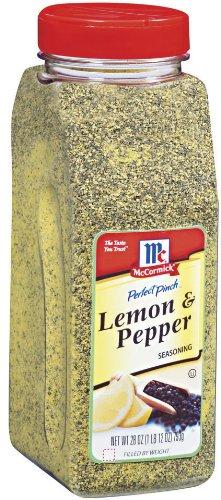 What is in lemon pepper seasoning