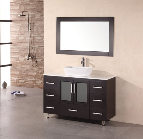Design Element B48-VS Stanton 48-Inch Single Vessel Sink Vanity