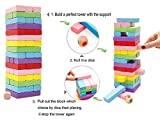 Lewo Wooden Board Games Tumbling Tower Building Blocks for Kids - 48 pieces