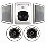 Acoustic Audio HT-55 5.1 Home Theater Speaker System (White, 5)