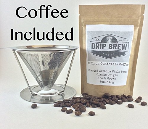 Pour Over Coffee Filter with Coffee: Reusable Pour Over Coffee Maker Stainless Steel Coffee Filter and Brewer with Pour Over Coffee Stan (Syrup In My Soda compare prices)