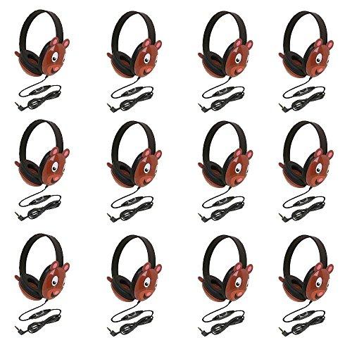 Califone 2810-Pa Listening First Stereo Headphone, Bear Motif - Pack Of 12