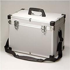 【カメラ機材用アルミケース】アルミキャリングケース LLサイズ ショルダーストラップ付 AL case LL シルバー