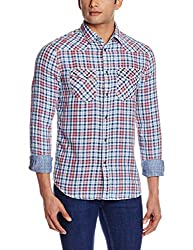 GAS Men's Casual Shirt (8056775042440_85721WY72_X-Large_WY72 - Multicolor)