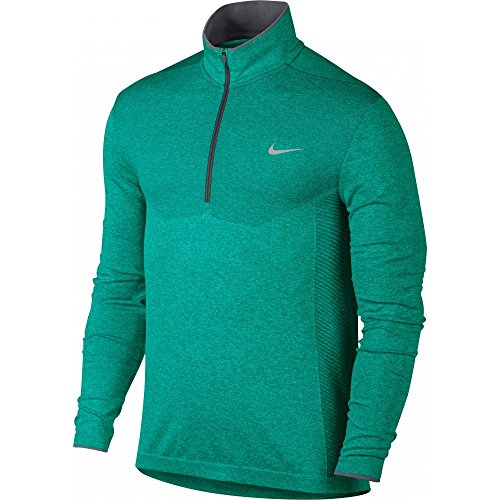 Nike 2016 Dri-Fit Knit Half-Zip Pullover Mens Golf Cover-Up Rio Teal/Dark Grey Large