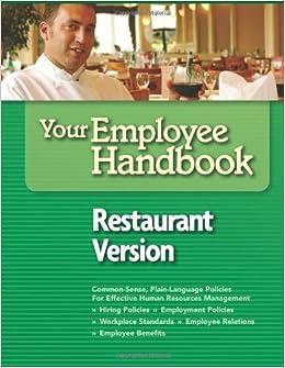 employee handbook for retaurants