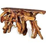 Tarakan Rustic Lodge Natural Teak Root Console Table