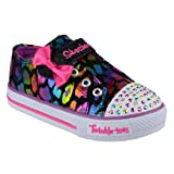 Skechers Twinkle Toes Shuffles Lighted One Strap Animal Print with Bow / Girls Shoes