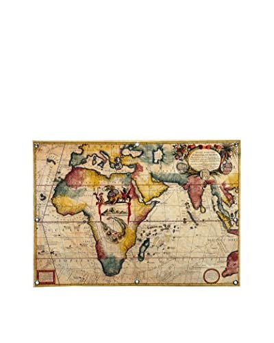 Antique-Inspired Map #2 by Ginger Canvas Print