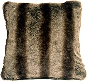 Pillow Decor - Amur Wolf Faux Fur 20x20 Throw Pillow