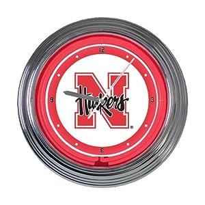 Memory Company Nebraska Cornhuskers 15 Neon Clock by The Memory Company
