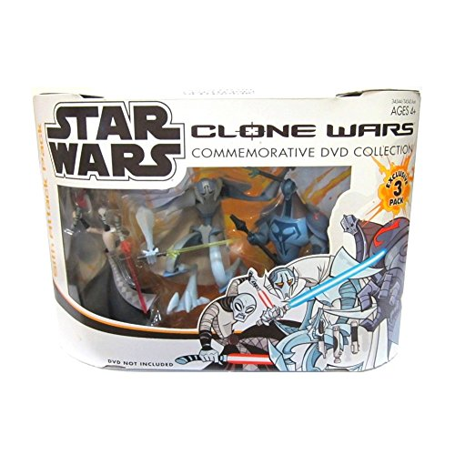 Star Wars Clone Wars Commemorative DVD Collection Exclusive SITH ATTACK 3 Pack with ASAJJ VENTRESS, GENERAL GRIEVOUS & DURGE Action Figures
