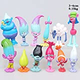 Max Fun Set of 12pcs Trolls dolls, 3-6cm Tall Movie Trolls Action Figures Cake toppers