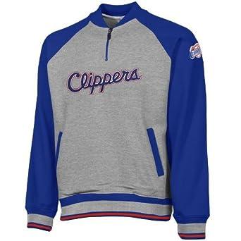 Los Angeles Clippers NBA Mens 1 4 Zip Pullover Sweatshirt by Zipway