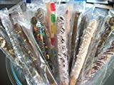 Chocolate Covered Pretzel Rods ASSORTED colored Theme 16 Pieces