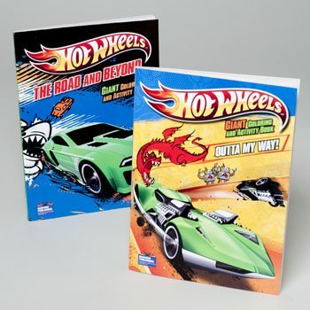 2 Pack of Hot Wheels Giant Coloring and Activity Books - 1