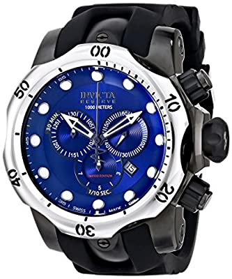 Invicta Men's ILEF0003ASYB Venom Analog Display Swiss Quartz Black Watch