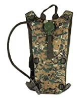 Ultimate Arms Gear Tactical Marpat Woodland Digital Camo Camouflage Hydration Pack Backpack Carrier With 2.5 Liter / 84 oz. Water Drinking Bladder Reservoir Capacity System Includes Hosing And Hands Free Bite Valve, Heavy Duty D-Rings, Storage Pocket, Adjustable Shoulder Strap & Emergency Carry Handle - Camping Hiking Outdoor Hunting Airsoft Bicycle Running Sports Military Patrol