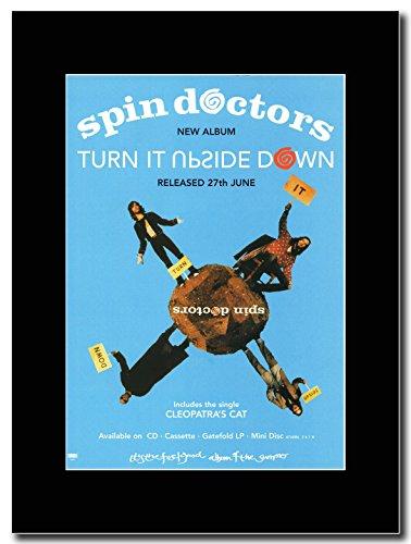 Spin Doctors accostata è capovolto Magazine Promo su un supporto, colore: nero