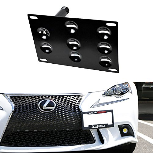 iJDMTOY Flush Design Front Bumper Tow Hole Adapter License Plate Mounting Bracket For Lexus 2006-up IS and 2011-up CT (Lexus Is300 Bumper compare prices)